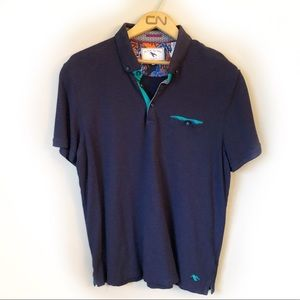 TED BAKER Rowhan slim fit cotton polo size 5